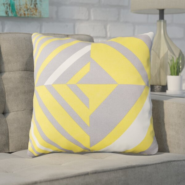 Clio Zipped Cotton Throw Pillow by Ivy Bronx