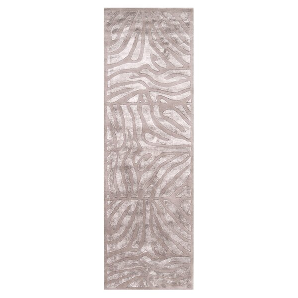 Wexler Animal Print Handmade Tufted Wool Taupe Area Rug