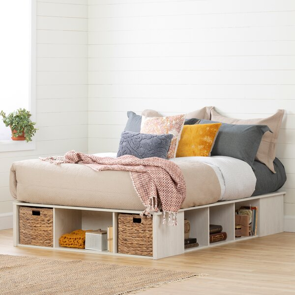 Lilak Storage Platform Bed By South Shore