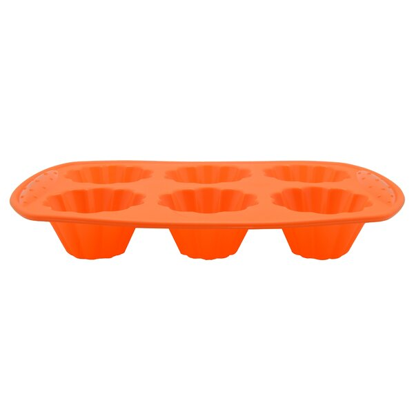 6 Cup Non-Stick Silicone Flower Shape Mold by Prime Cook