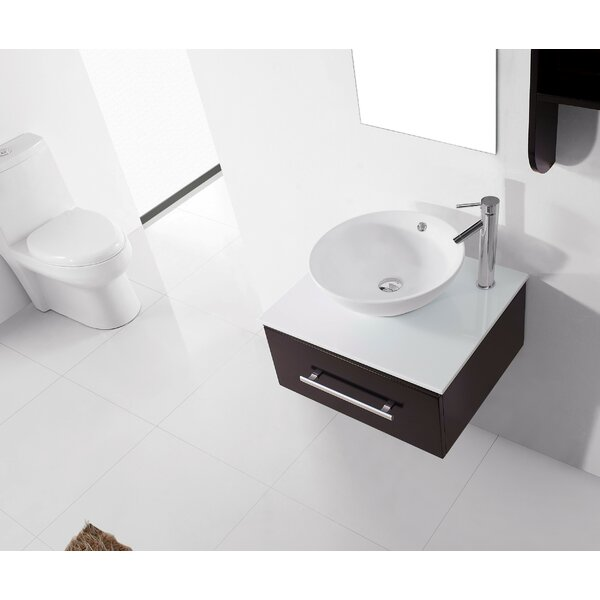Canadice 24 Single Bathroom Vanity Set with White Stone Top and Mirror by Zipcode Design