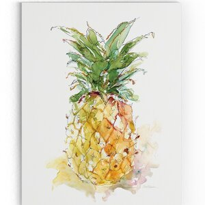 'Delicious Ripe II' Watercolor Painting Print on Wrapped Canvas by Ivy Bronx