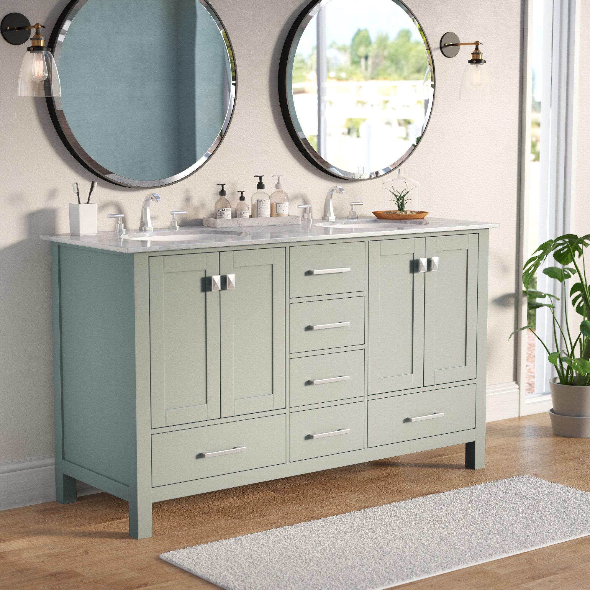 Darby Home Co Bowlin 60 Double Sink Bathroom Vanity Reviews Wayfair