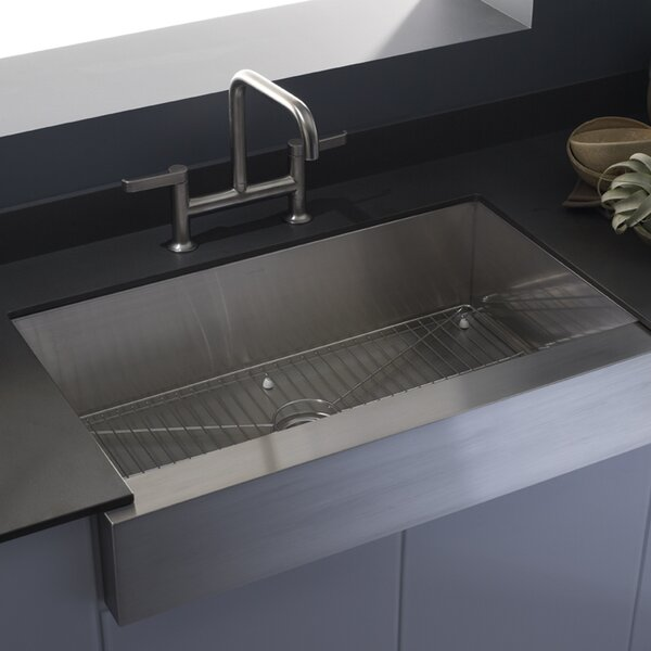 K 3943 NA Kohler Vault Farmhouse Single Bowl Kitchen Sink U0026 Reviews |  Wayfair