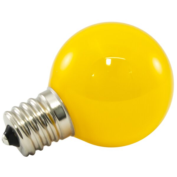 1W Yellow Frosted E17/intermediate LED Light Bulb (Set of 200) by American Lighting LLC