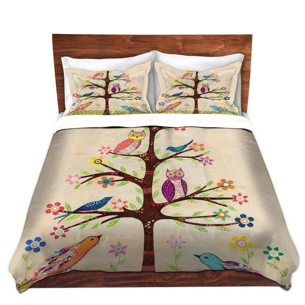 Owl Bird Tree II Duvet Cover Set by DiaNoche Designs
