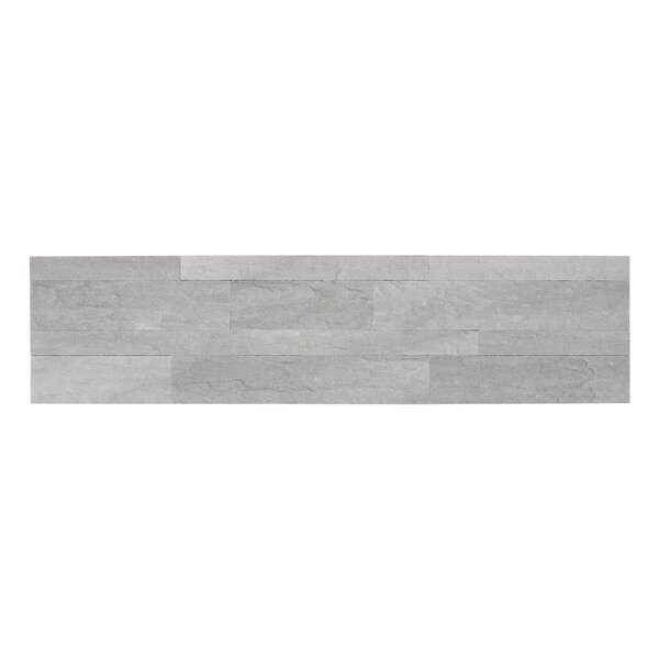Bolder Stone 6 x 24 Mixed Material Self Adhesive Mosaic Tile in Smoke by Achim Importing Co