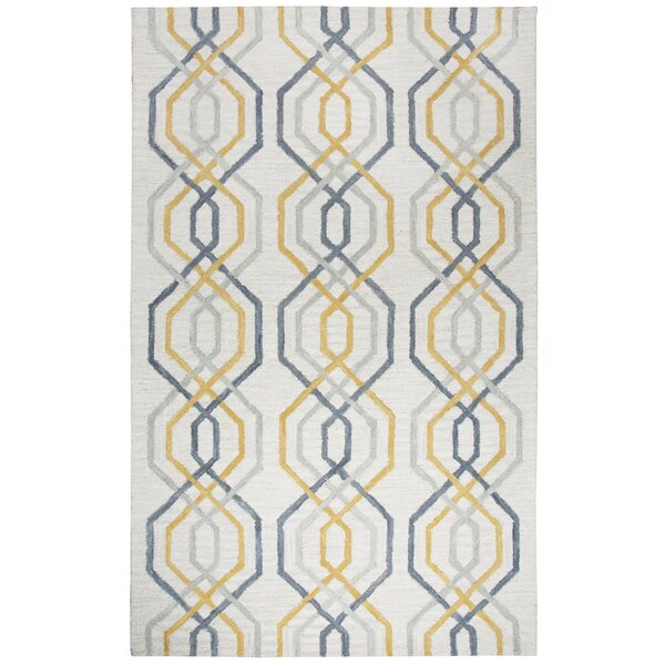 Malcolm Hand-Tufted Wool Cream Area Rug by Corrigan Studio