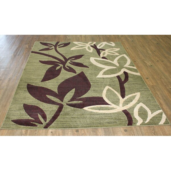 LifeStyle Green/Burdungy Area Rug by Rug Factory Plus