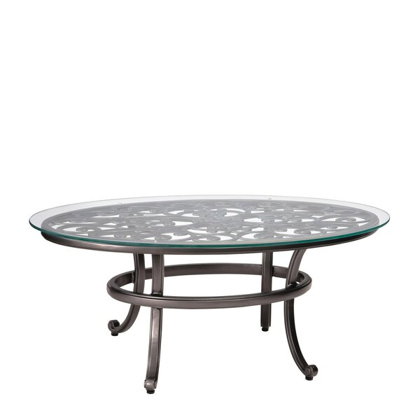 New Orleans Coffee Table with Glass Top by Woodard