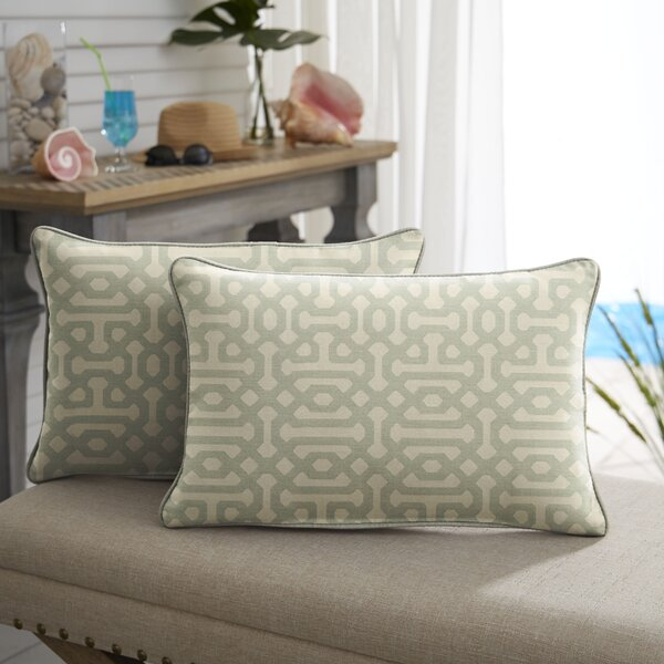 Trent Indoor/Outdoor Lumbar Pillow (Set of 2) by Alcott Hill