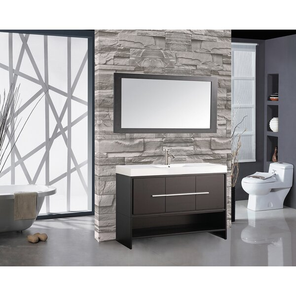 Peirce 48 Single Bathroom Vanity Set with Mirror by Orren Ellis