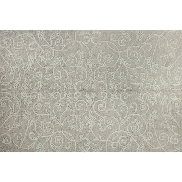 Karma Hand Tufted Wool/Silk Beige Area Rug by Bashian Rugs