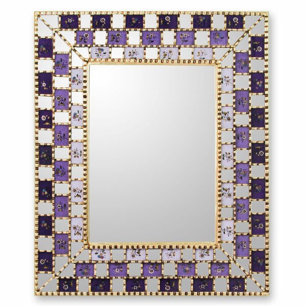 Reverse Painted Wall Mirror by Novica