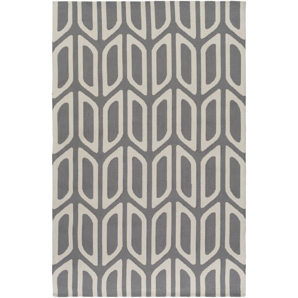 Blohm Gray Area Rug by Wrought Studio