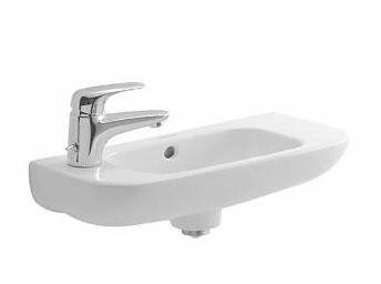 D-Code Ceramic 20 Wall Mount Bathroom Sink with Overflow by Duravit