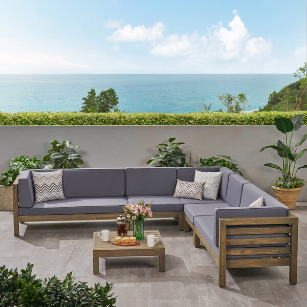 Kristin 6 Piece Sectional Seating Group with Cushions by Corrigan Studio