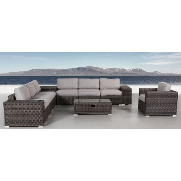 Iola 12 Piece Sectional Seating Group with Cushions