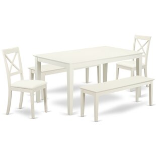 Smyrna 5 Piece Solid Wood Dining Set ByCharlton Home