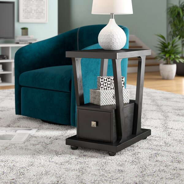 Seeley End Table With Storage by Red Barrel Studio