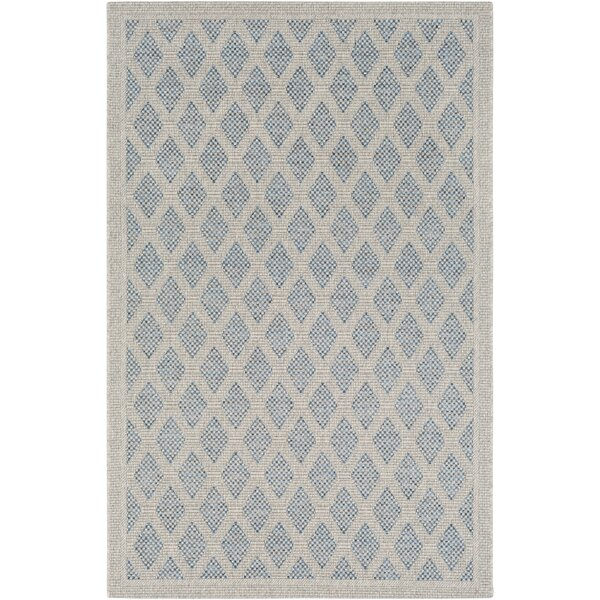 Sarang Light Gray/Blue Indoor/Outdoor Area Rug by Highland Dunes