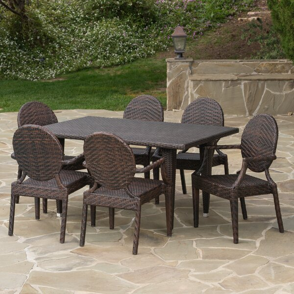 Zinnia 7 Piece Dining Set by Darby Home Co