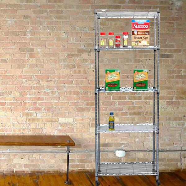 4 Tier Metal Storage Rack with Wheels by Mind Reader
