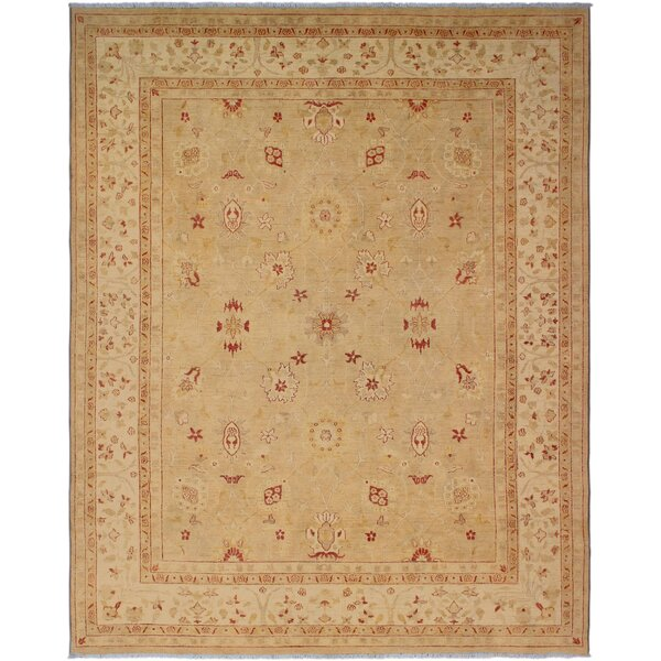 One-of-a-Kind Bolesworth Sun-Faded Hand-Knotted Wool Ivory/Tan Area Rug by Canora Grey