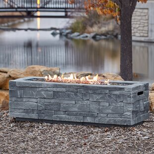 Ledgestone Concrete Propane Natural Gas Fire Pit