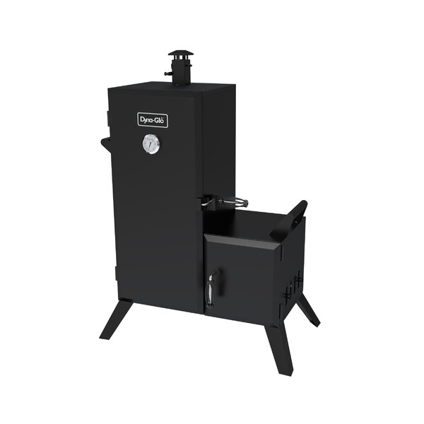Double Door Vertical Charcoal Smoker with Adjustable Cook Grate by Dyna-Glo