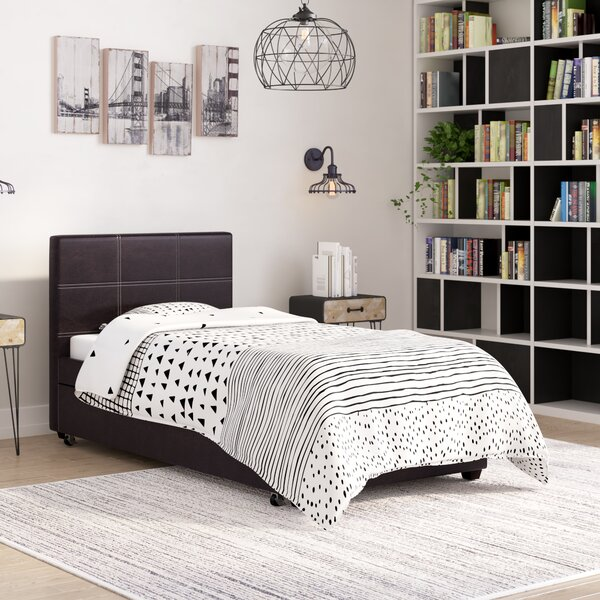 Shula Twin Upholstered Platform Bed by Wrought Studio
