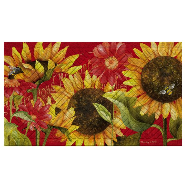 Juliaetta Sunflower Embossed Doormat by August Gro