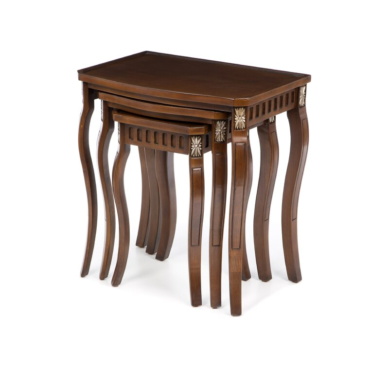 Channing 3 Piece Nesting Tables  sc 1 st  Wayfair & Alcott Hill Channing 3 Piece Nesting Tables u0026 Reviews | Wayfair