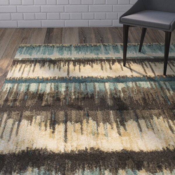 Brayden Sand/Teal Area Rug by Wrought Studio