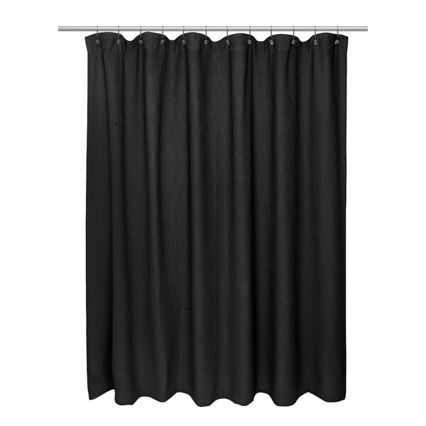 Waffle Weave Shower Curtain by Carnation Home Fashions