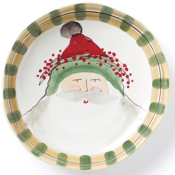 Old St Nick Shallow Serving Bowl by VIETRI