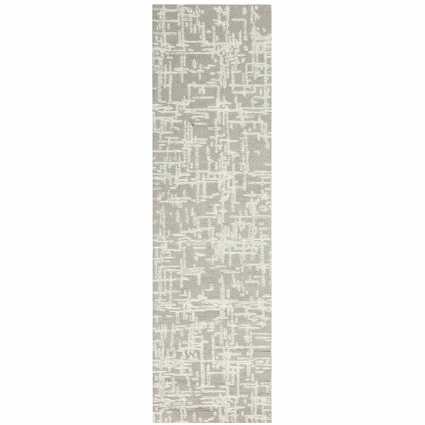 Crosshatch Hand-Tufted Wool Natural Area Rug