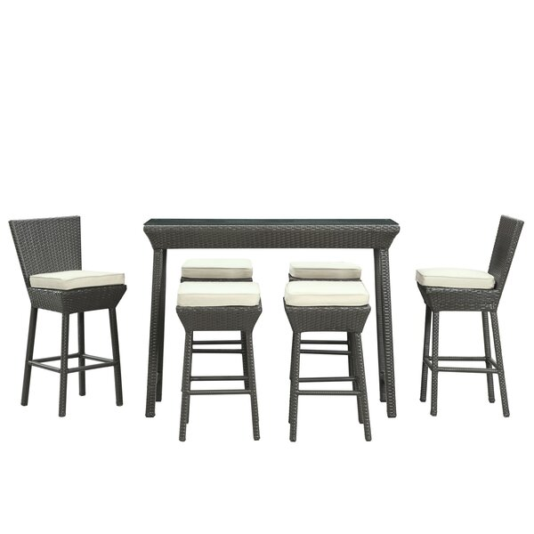 Napa 7 Piece Bar Height Dining Set with Cushions by Modway