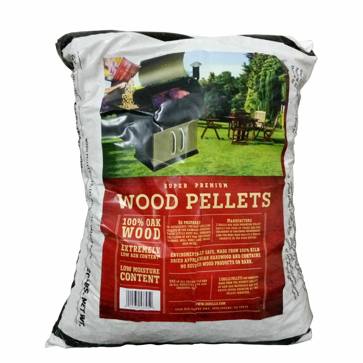 100/% All-Natural Hardwood BBQ Smoking Grill Wood Pellets 20 LB Bag