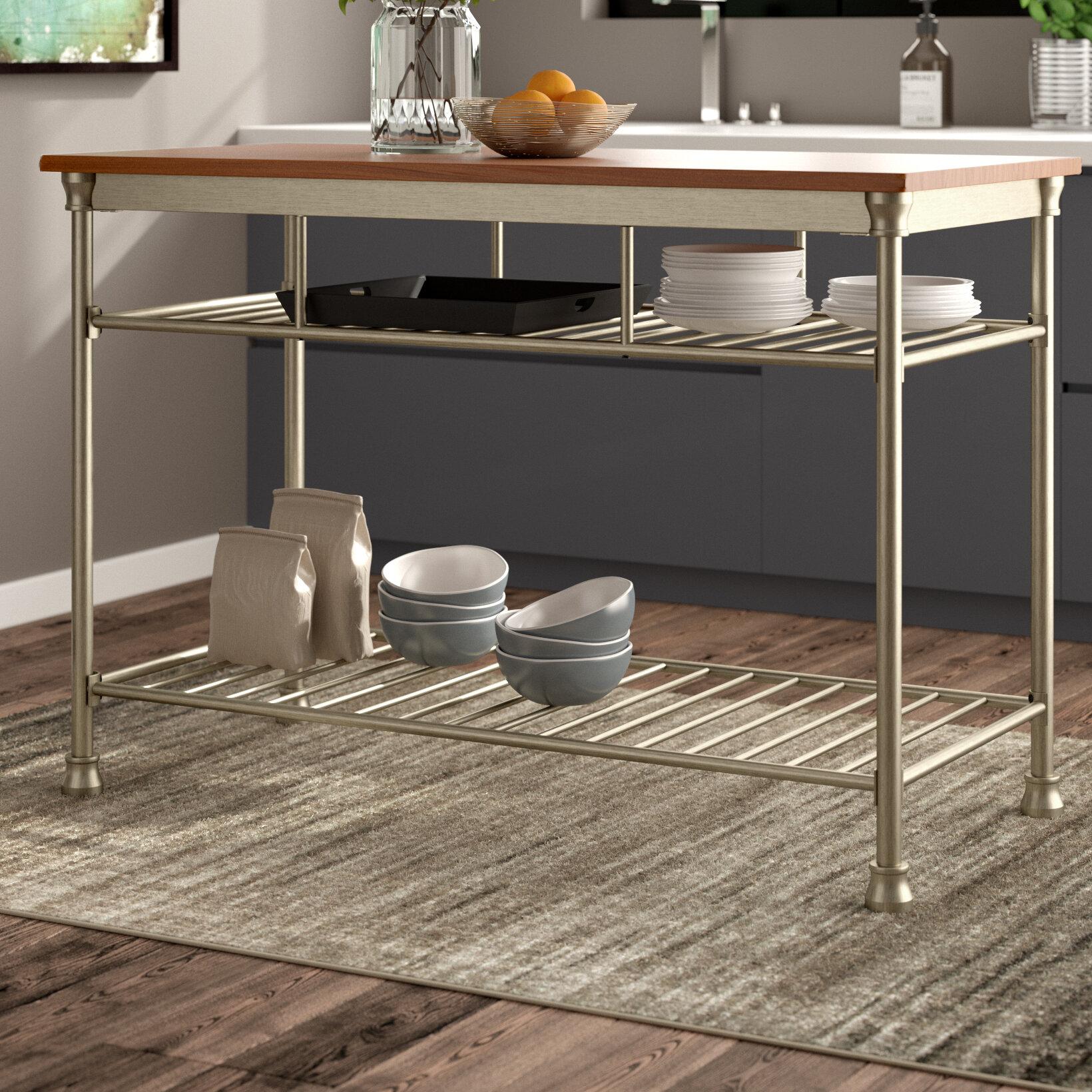 Trent austin design haleakal kitchen island with butcher block top reviews wayfair