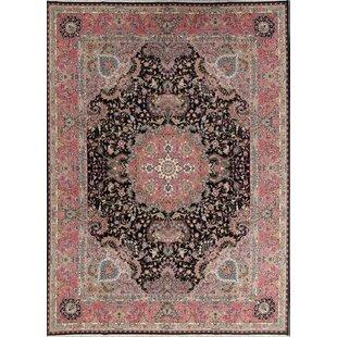 Find a St Philips Soft Plush Tabriz Persian Black/Burgundy Area Rug ByWorld Menagerie
