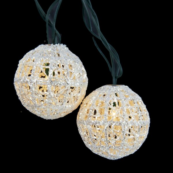 Miniature Sparkly Ball Party Christmas 10 Light String Light by The Holiday Aisle