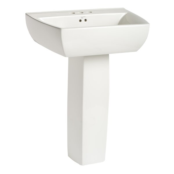 Potenza Vitreous China 24 Pedestal Bathroom Sink with Overflow by Mansfield Plumbing Products