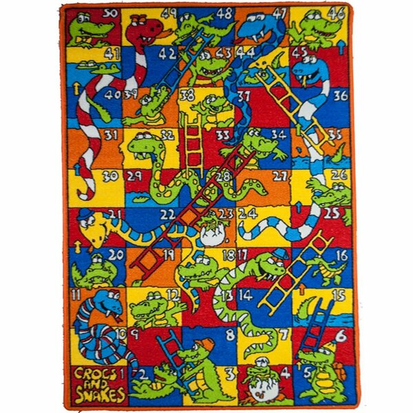 Kids Crocs and Snakes Area Rug by Sintechno