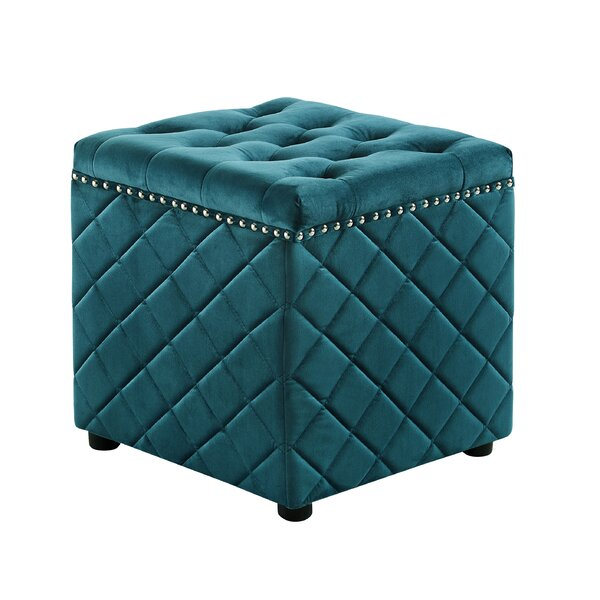 Lindeman Tufted Cube Ottoman by House of Hampton
