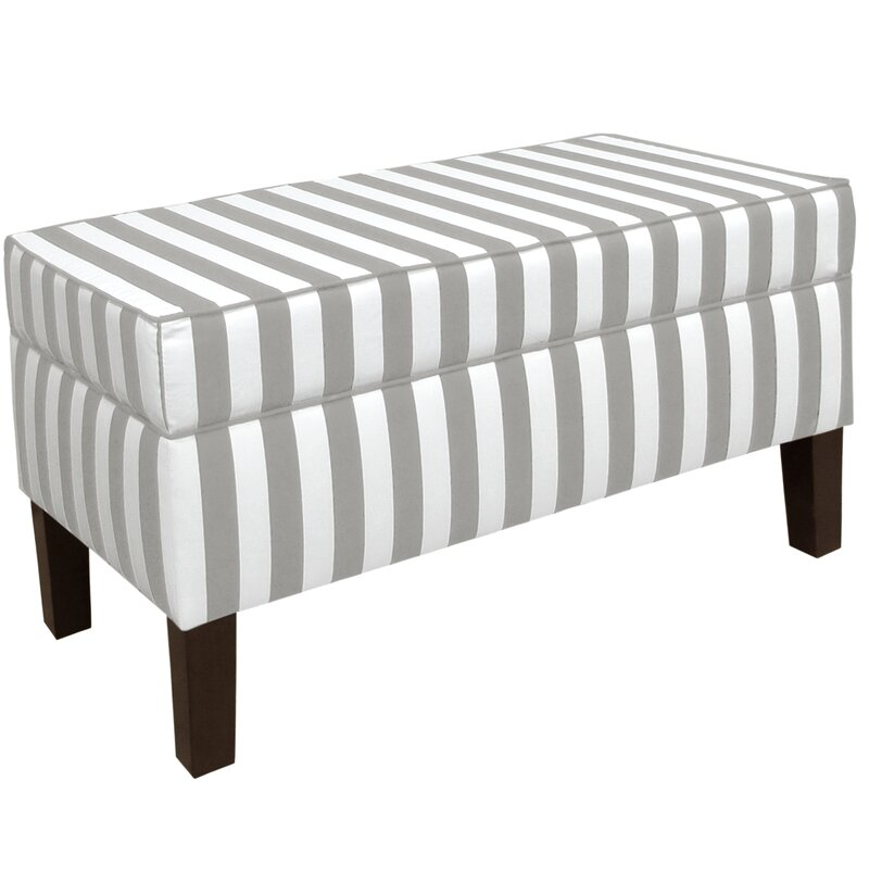 Charmant Jordynn Canopy Striped Storage Bench