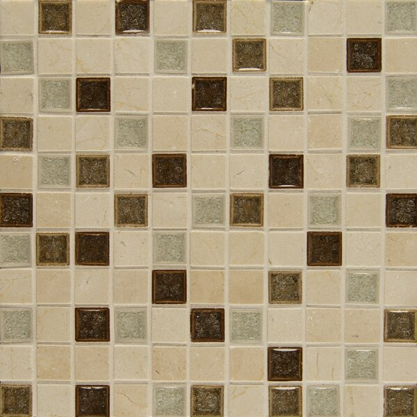 Kismet 1 x 1 Glass Mosaic Tile in Paradise by Bedrosians