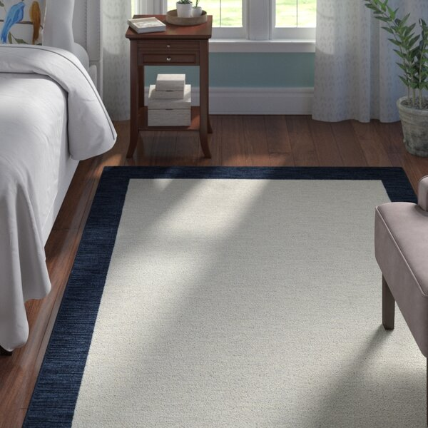 Samantha Gray/Navy Area Rug by Andover Mills