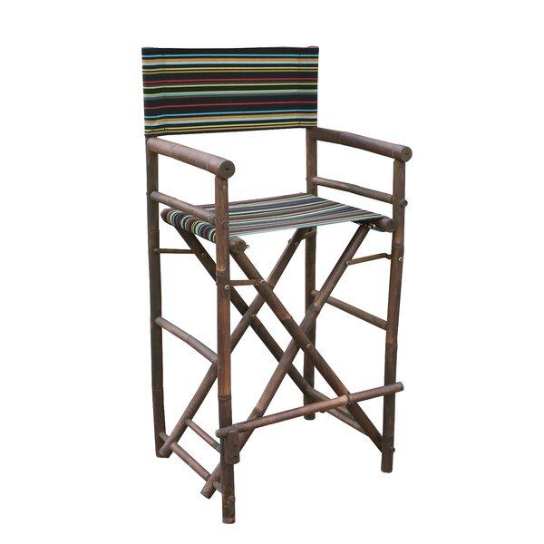 Kherodawala Bamboo 32 Counter Chair Patio Bar Stool (Set of 2) by Bloomsbury Market