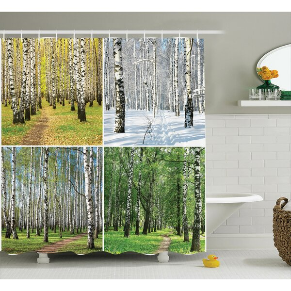 Forest Fall Winter in Home Shower Curtain by East Urban Home